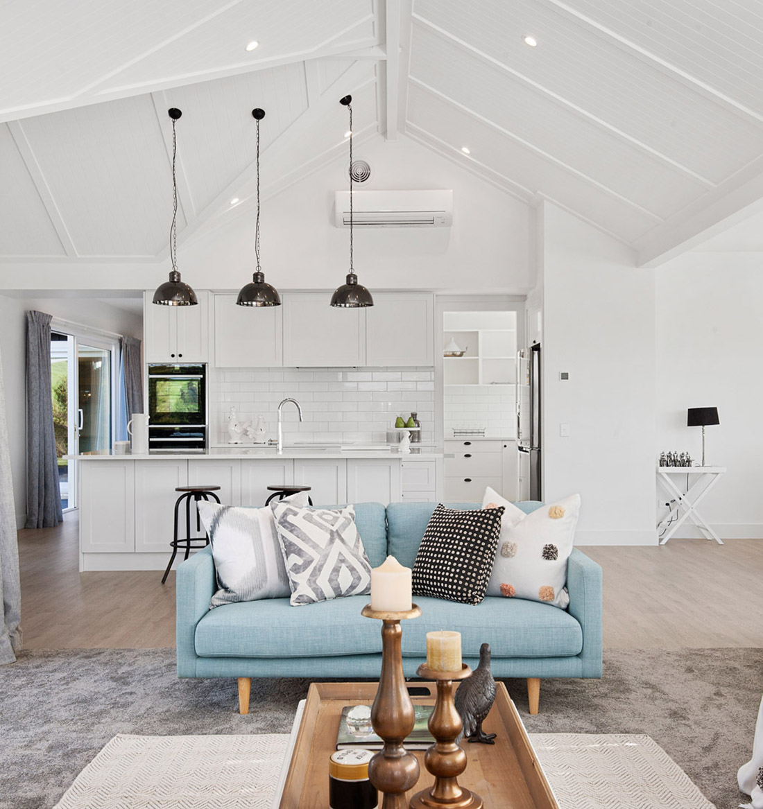 Taupo house builders harrier lane living room