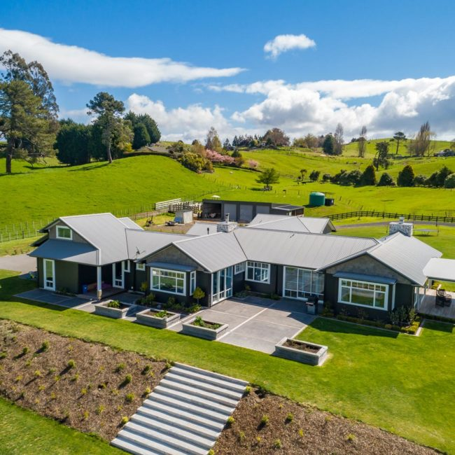 Bayline Construction Taupo Oruanui Road drone house view